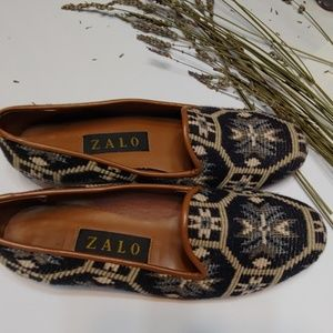 Zalos tapestry loafers
